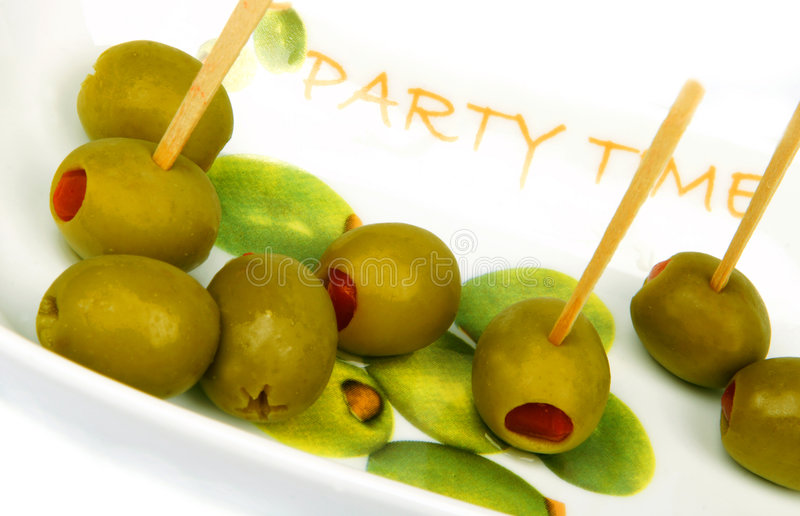 Olives. Bowl of olives: it's very healthy idea for a party times stock photography