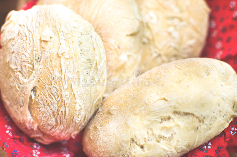 Olives bread loaves closeup stock photography