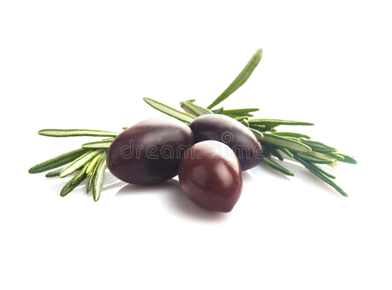 Olives d'isolement images stock