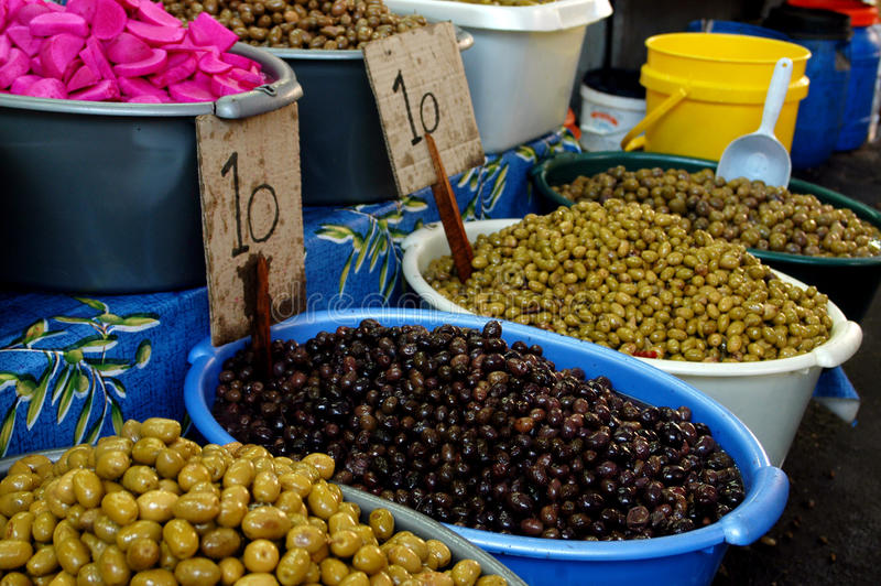 Olives On Display Royalty Free Stock Photography