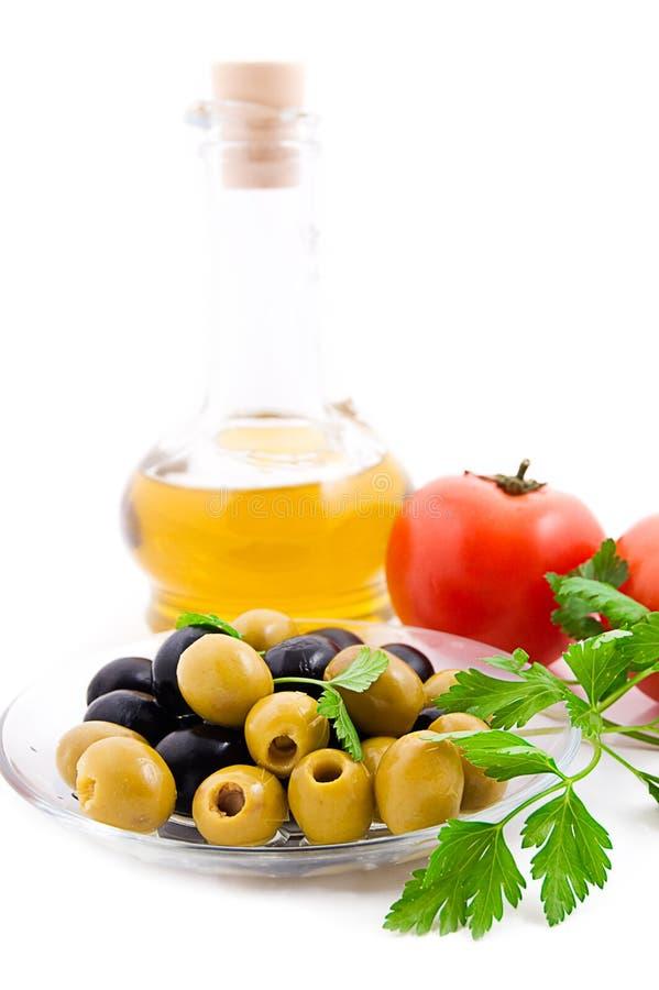 Olives et tomates image libre de droits