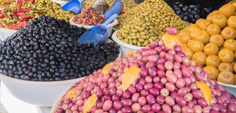 Olives and Lemons stock image