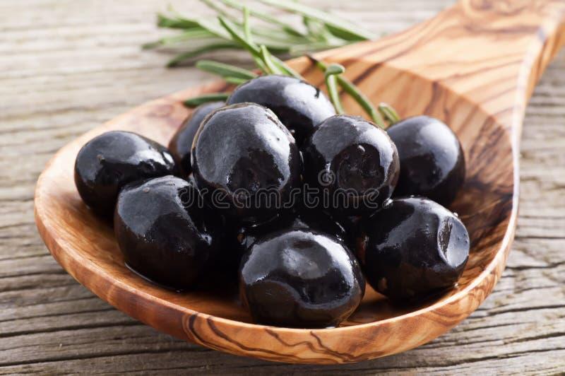 Olives noires photographie stock libre de droits