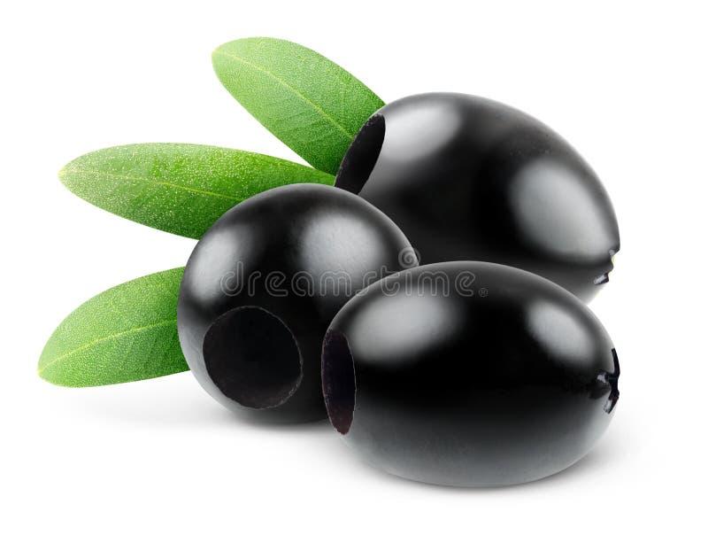 Olives noires dénoyautées photo stock