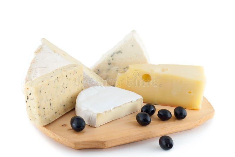 olives noires de fromage image stock