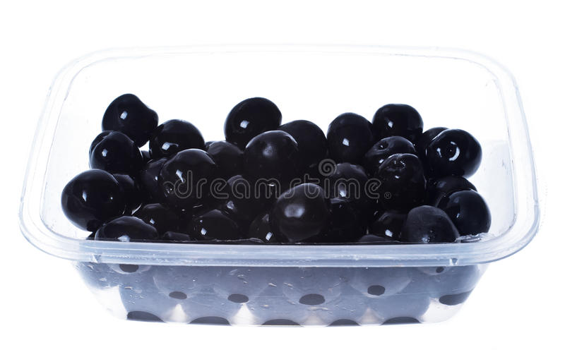 Download Olives In Plastic Box Surface Isolated Royalty Free Stock Photo - Image: 36961875
