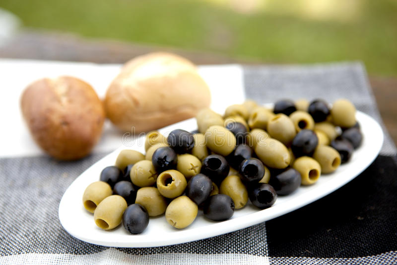 Download Olives On A Plate stock image. Image of mediterranean - 20851245