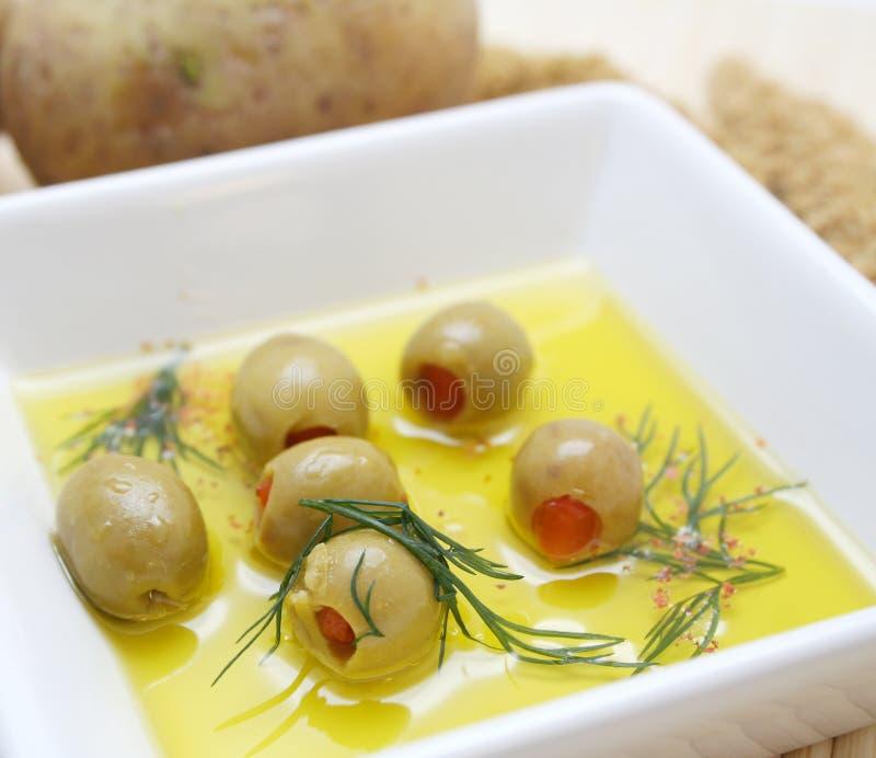 Olives vertes photo libre de droits