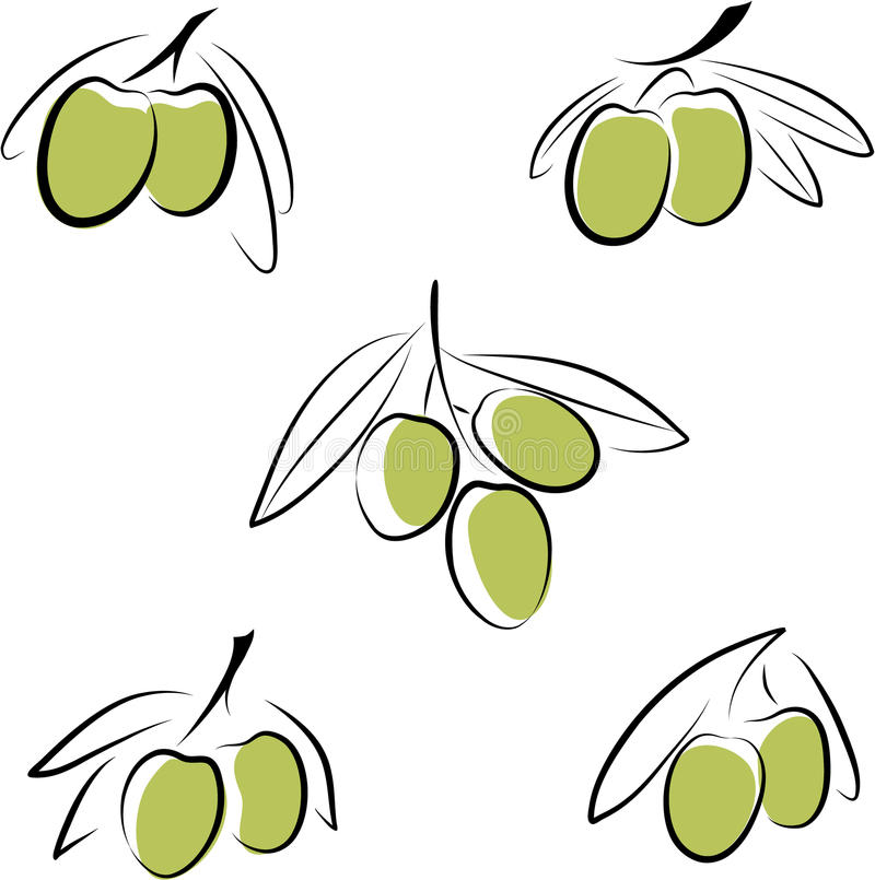 olivgrön stock illustrationer