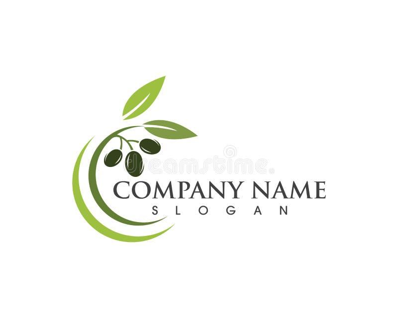 Olivgrön symbol för logomallvektor royaltyfri illustrationer
