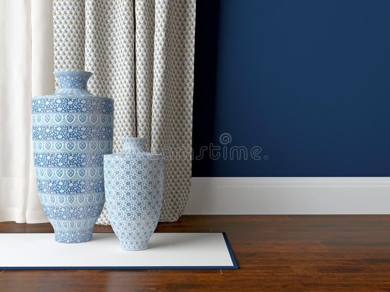 Olivgrüne antike Möbel und Ziegelstein trimmen Wand mit einem Kamin lizenzfreie stockfotografie