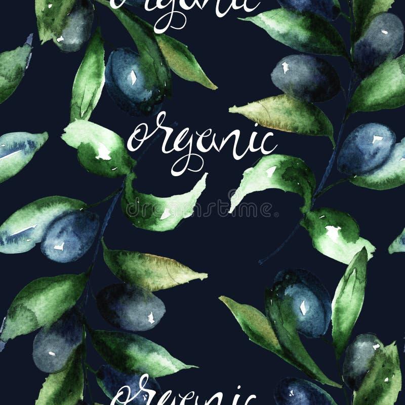 Olivgrüne ` s Niederlassung mit dem Titel organisch lizenzfreie stockfotografie