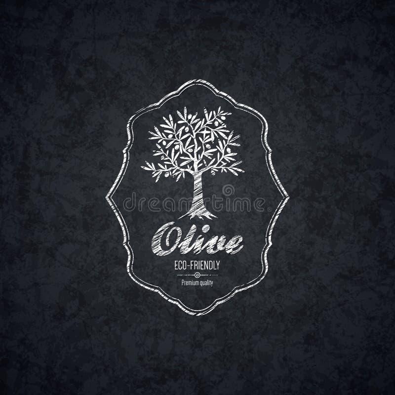 Olivgrüner Aufkleber, Logodesign vektor abbildung