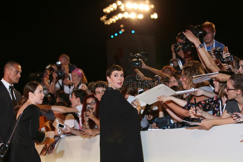 Olivia Colman walks the red carpet stock photo