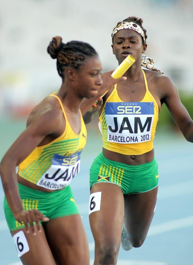 Olivia James en Sandrae Farquharson van Jamaïca royalty-vrije stock afbeeldingen