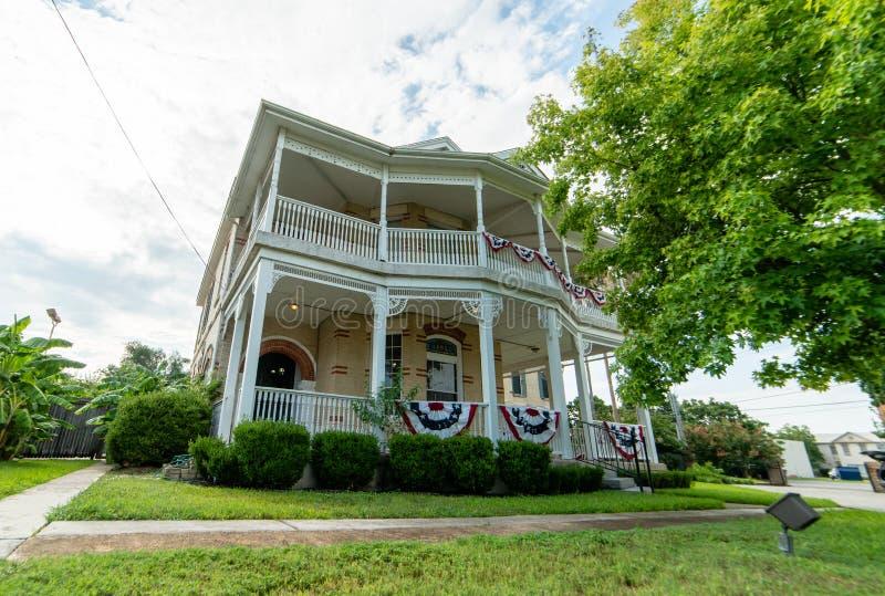 Olivia Mansion Bed en Ontbijt in Seguin, TX royalty-vrije stock foto's