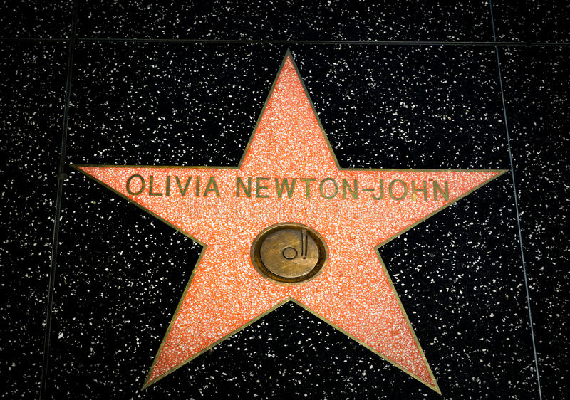 Olivia Newton-John Star on the Hollywood Walk of Fame royalty free stock image