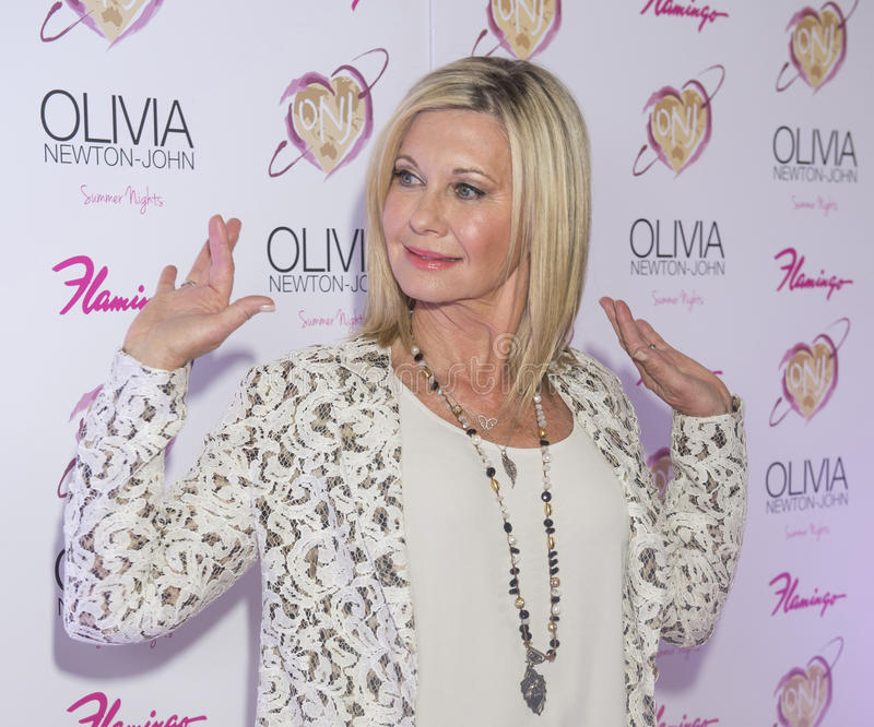 Olivia Newton-John - Summer Nights. LAS VEGAS, NV - APRIL 11: Entertainer Olivia Newton-John attends the grand opening of her residency show 'Summer Nights' at stock photos