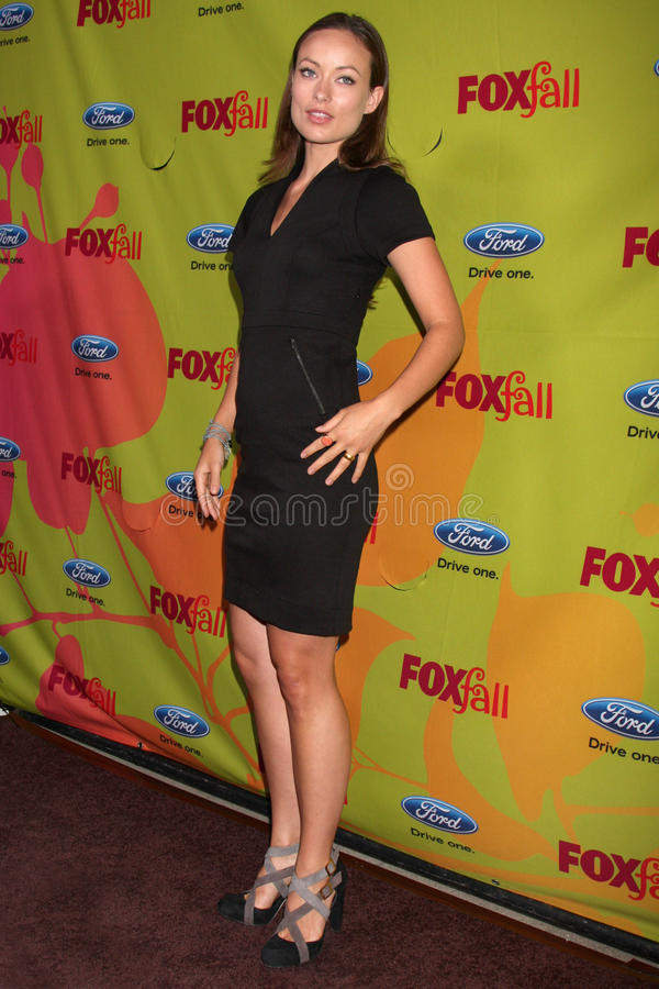 Olivia Wilde. Arriving at the FOX-Fall Eco-Casino Party at BOA Steakhouse in West Los Angeles, CA on September 14, 2009 stock photography