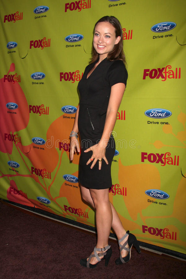 Olivia Wilde. Arriving at the FOX-Fall Eco-Casino Party at BOA Steakhouse in West Los Angeles, CA on September 14, 2009 royalty free stock photos