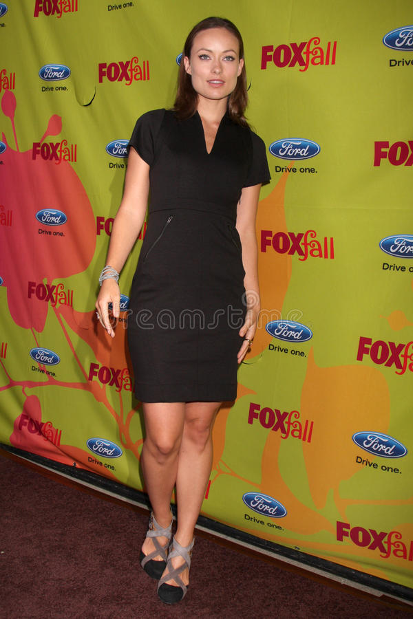 Olivia Wilde. Arriving at the FOX-Fall Eco-Casino Party at BOA Steakhouse in West Los Angeles, CA on September 14, 2009 stock images