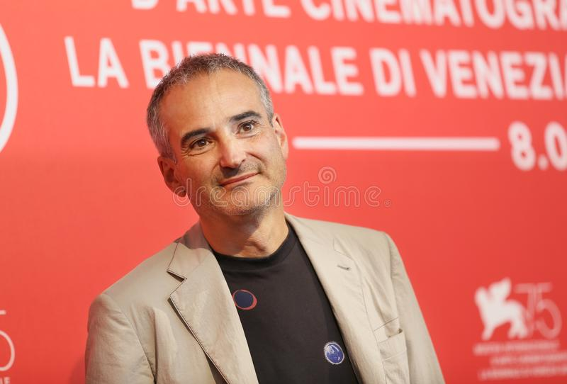 Olivier Assayas attends `Doubles Vies Non Fiction`. Photocall during the 75th Venice Film Festival at Sala Casino on August 31, 2018 in Venice, Italy stock images