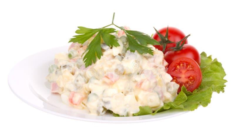 Olivier salad royalty free stock photos