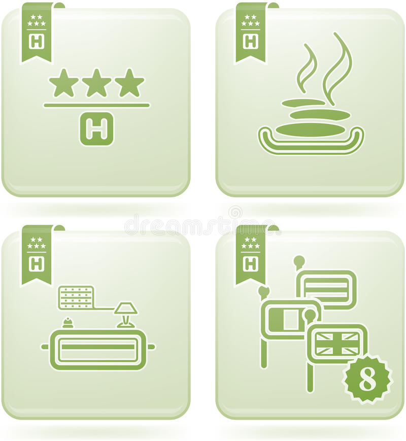 Download Olivine 2D Squared Icons Set: Hotel Stock Vector - Image: 14036173