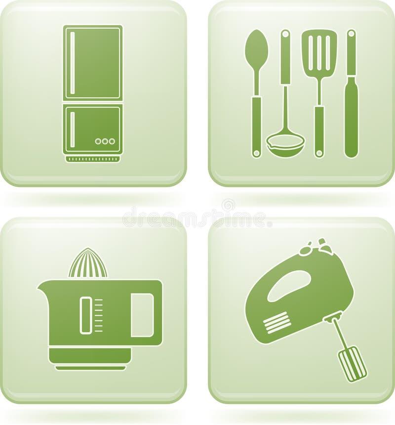 Download Olivine Square 2D Icons Set: Kitchen Utensils Stock Vector - Illustration: 13802510