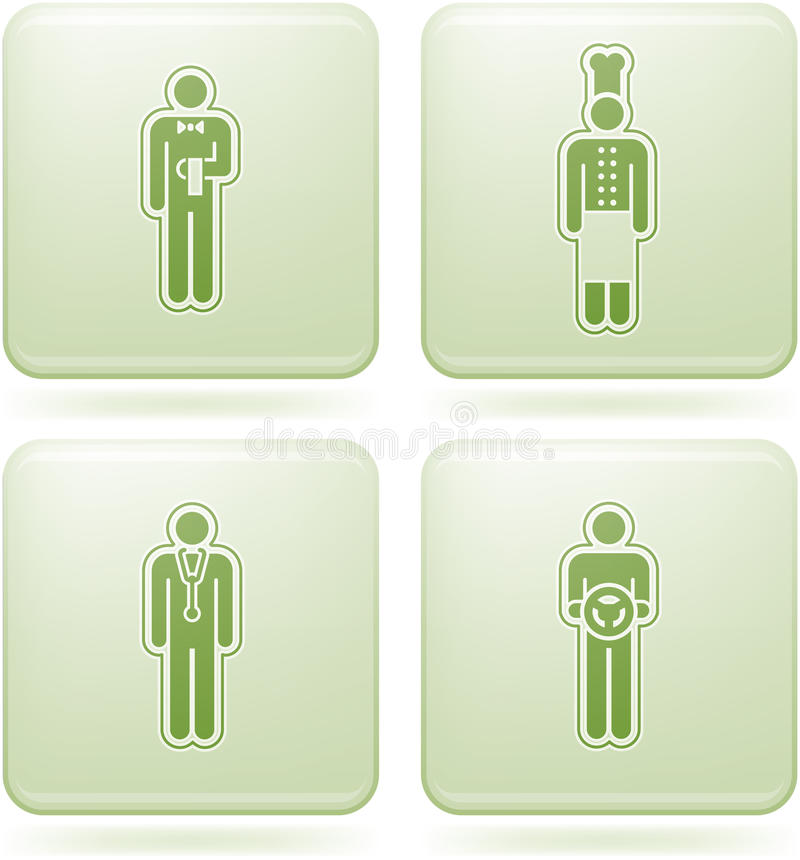 Download Olivine Square 2D Icons Set: Occupation Stock Vector - Image: 13952847