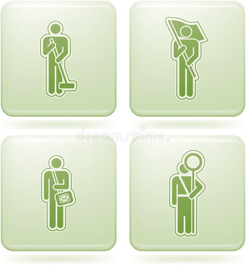 Download Olivine Square 2D Icons Set: Occupation Stock Vector - Illustration of green, sign: 13952854