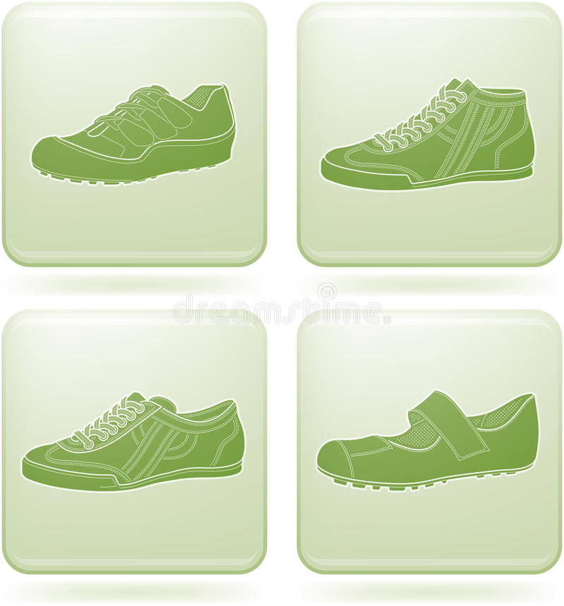 Download Olivine Square 2D Icons Set: Woman's Shoes Stock Photography - Image: 13954302