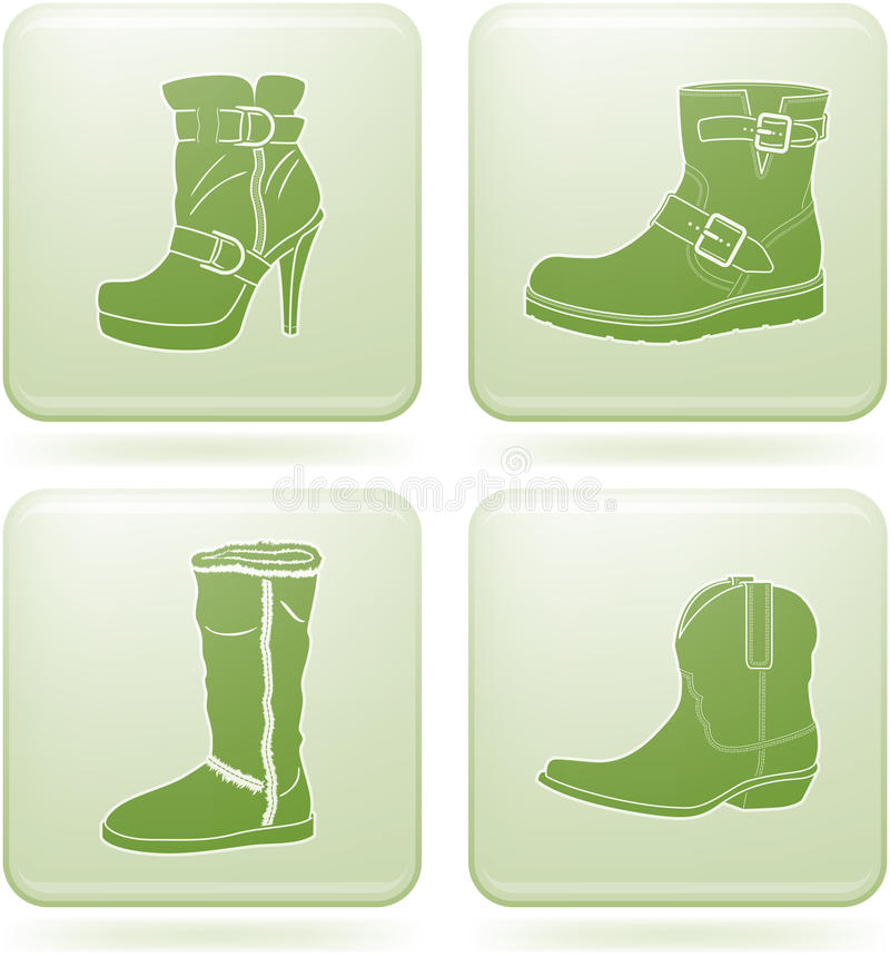 Download Olivine Square 2D Icons Set: Woman's Shoes Royalty Free Stock Image - Image: 13954306