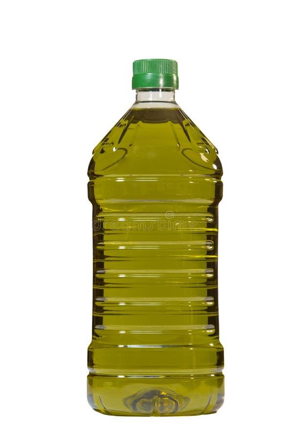 Olivoljaflaska som isoleras över vit bakgrund royaltyfria foton