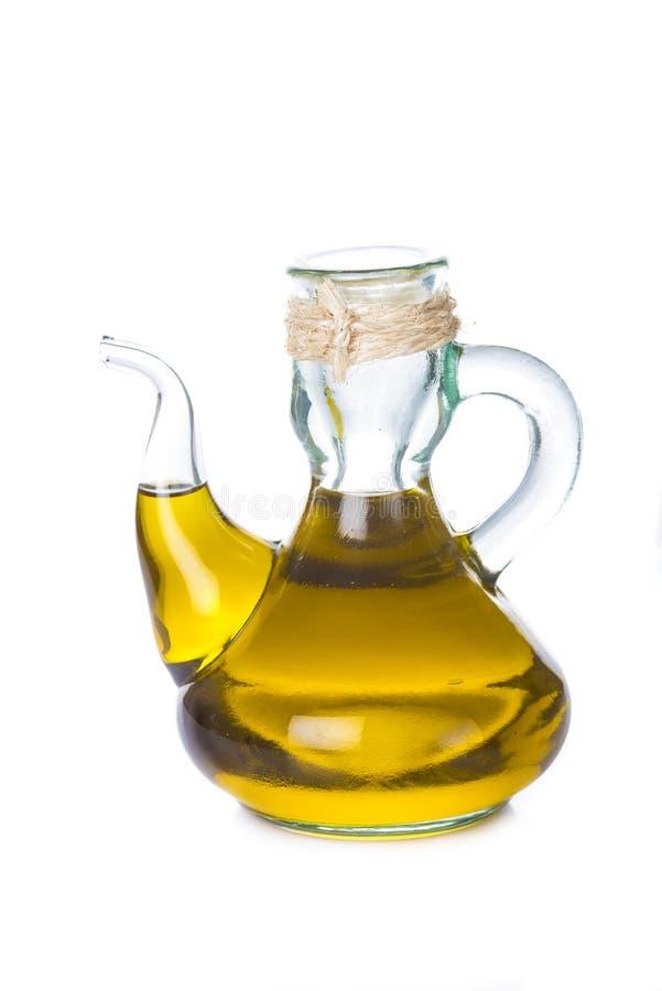 Oliwa z oliwek butelka odizolowywająca na białym backgroun obraz royalty free
