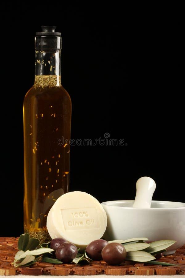 oliwa z oliwek mydło oleju zdjęcie stock