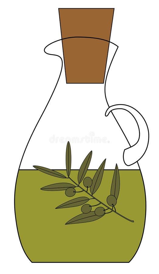 oliwa z oliwek na butelce ilustracji