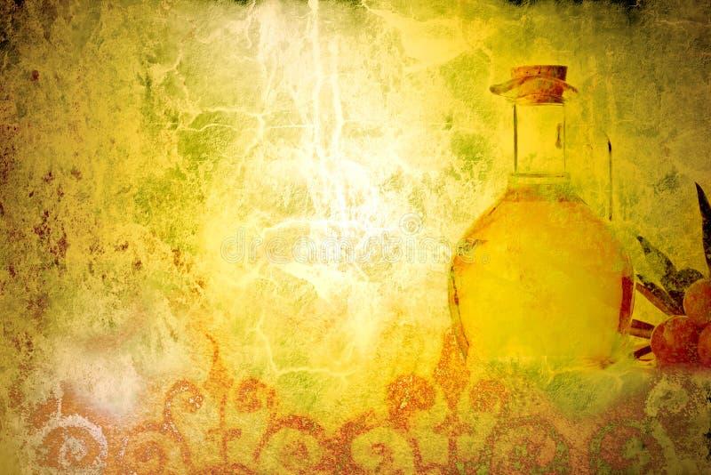 Oliwa z oliwek stary tło fotografia stock