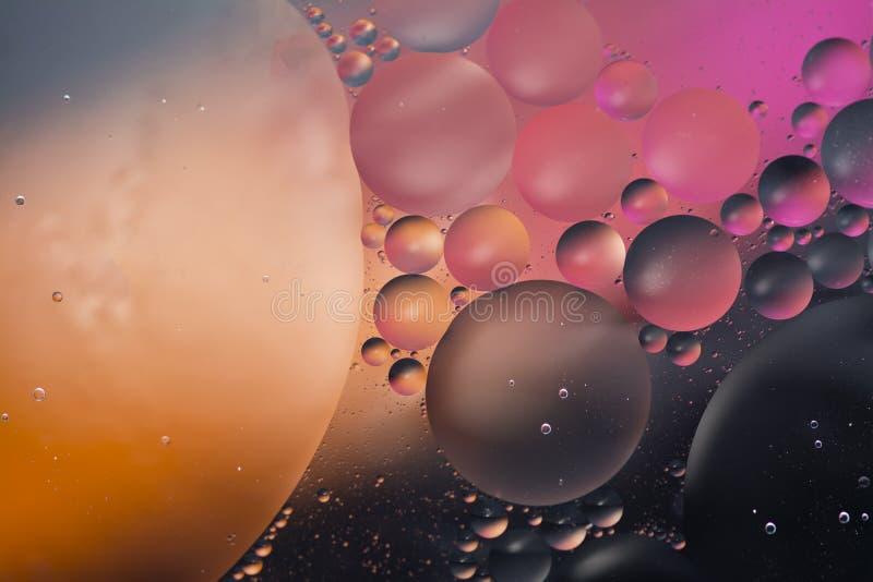 Oliwi bąbel fantazi głębokiej przestrzeni abstrakta tło i nawadnia zdjęcia royalty free