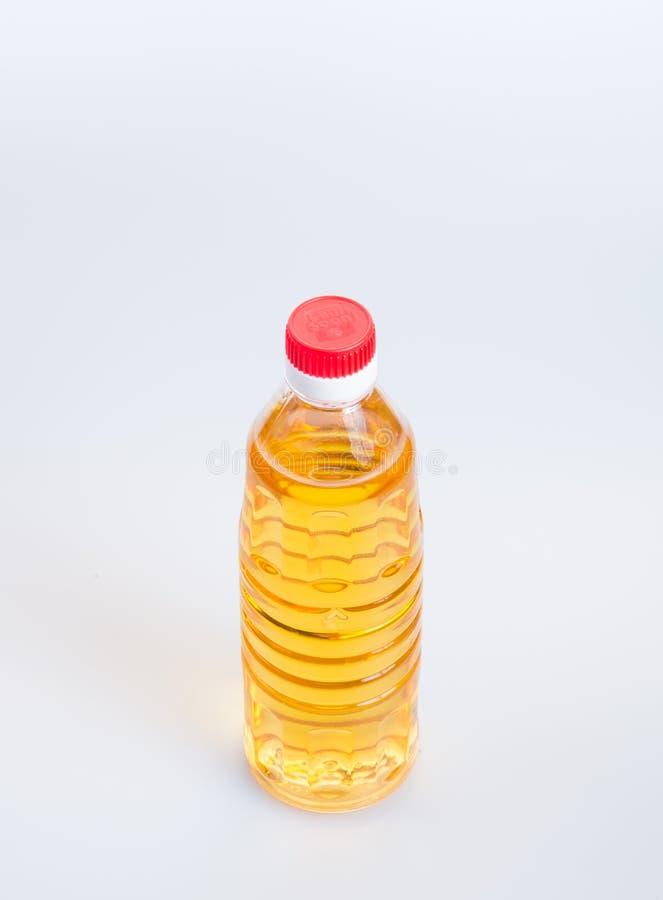 oliwi lub oliwi w plastikowej butelce na tle obraz royalty free