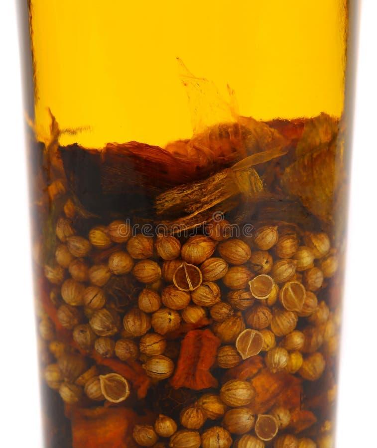 Oliwi z spicery w butelkę. obraz royalty free