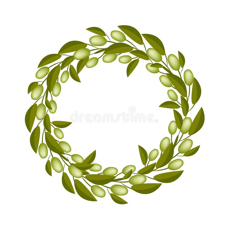Oliwna korona lub ilustracji