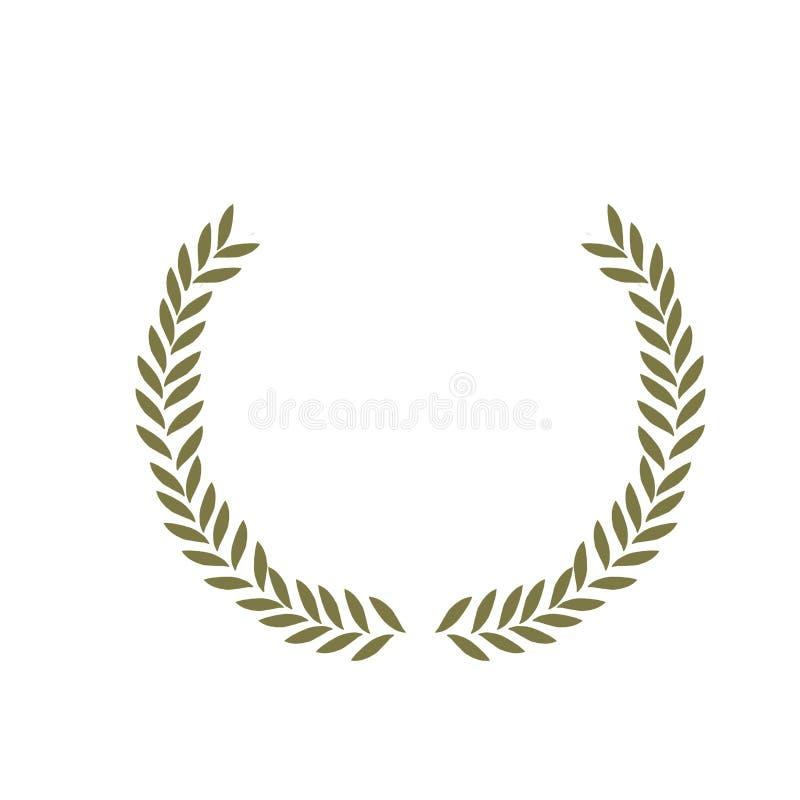 Oliwna kwiecista ilustracja - gałązka oliwna ramowy wianek dla poślubiać stacjonarny, powitania, tapety, moda, tła, ilustracja wektor