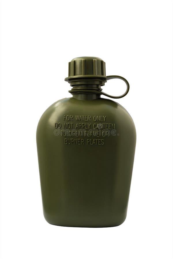 Oliwna wojsko kolba odizolowywająca z ścinek ścieżką zdjęcia stock