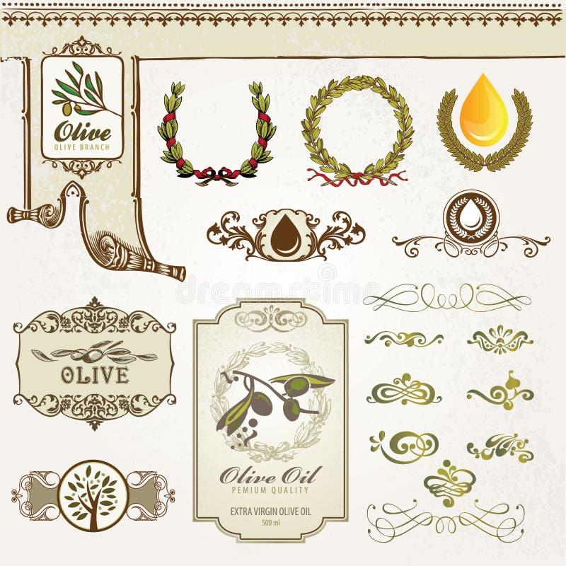 oliwni inkasowi elementy royalty ilustracja