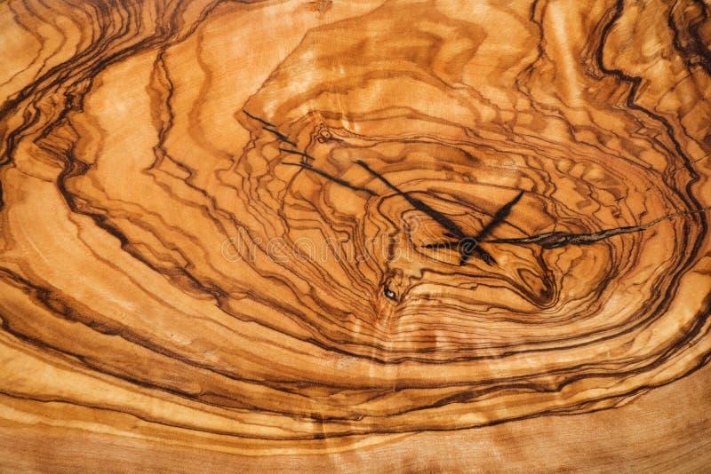 Oliwny drewniany brown tekstury tła zakończenie up fotografia royalty free