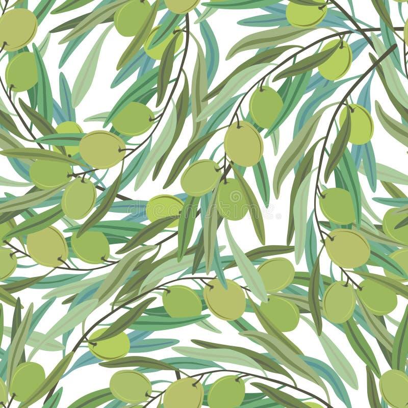 Oliwny tło ilustracji