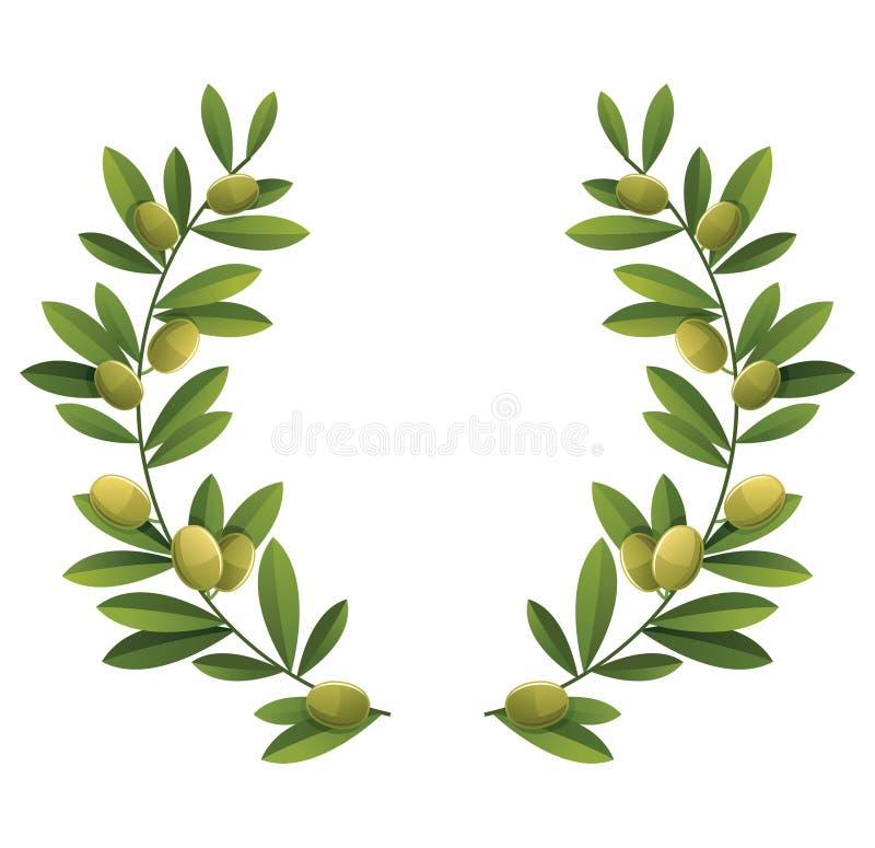 oliwny wianek ilustracja wektor