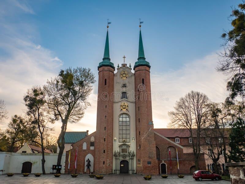 Oliwy katedra w ranku gdansk Poland zdjęcie stock