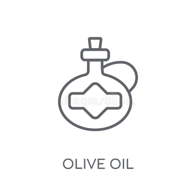 Oliwy z oliwek liniowa ikona Nowożytny kontur oliwy z oliwek logo pojęcie dalej ilustracji